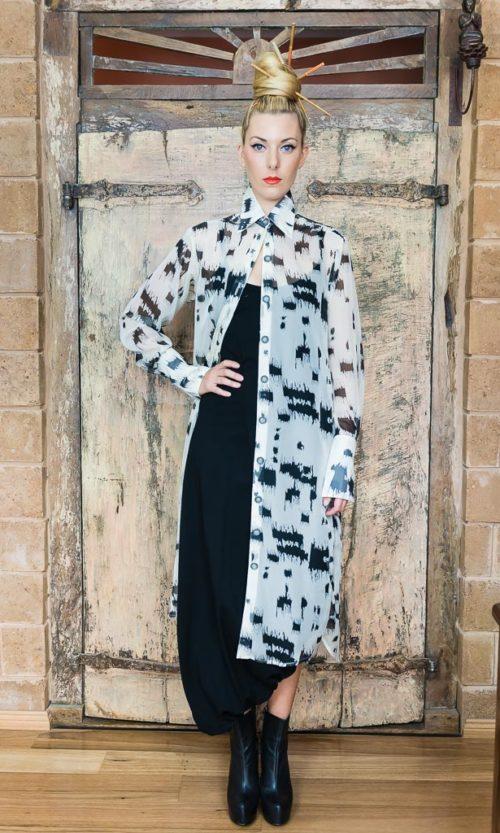 Tiffany Dress - Ivory Wall