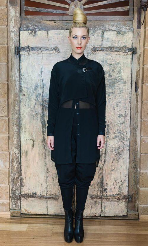 Narda Shirt - Black Chiffon