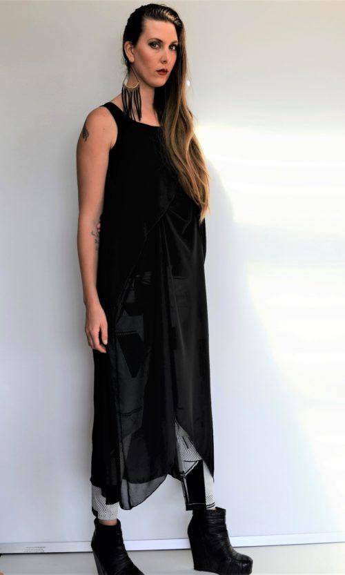 Louise Tunic - Black Chiffon