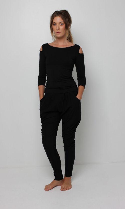 Sholli Top Long Sleeve - Black