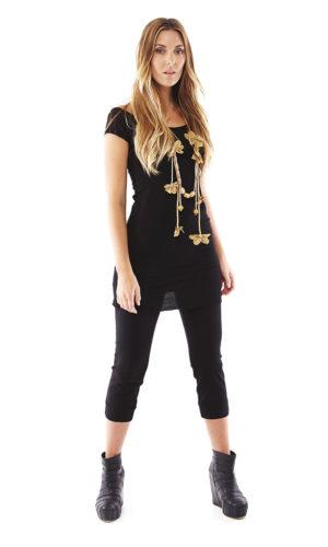 Marlene Pant - Black 3/4 Leg