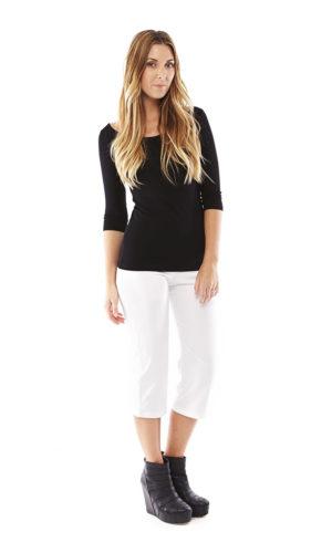 Marlene Pant 3/4 Leg - White
