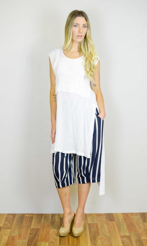 Hudson Short - Ivory Stripe