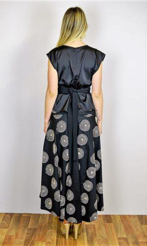 Monoc Skirt - Black Circle
