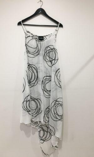 Sandy Tunic - White/Black-Rings