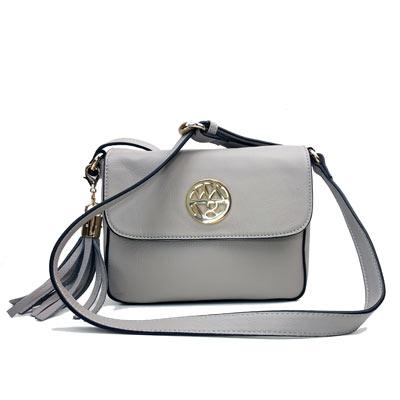 Willow & Zac: Lucy Leather Handbag - Cloud