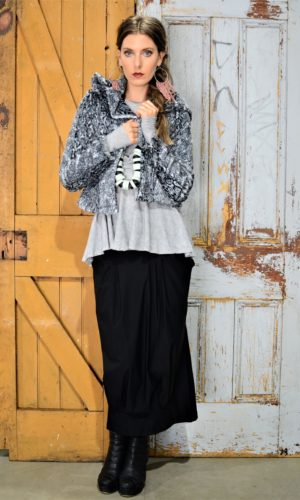 Fur Jay - Black/White