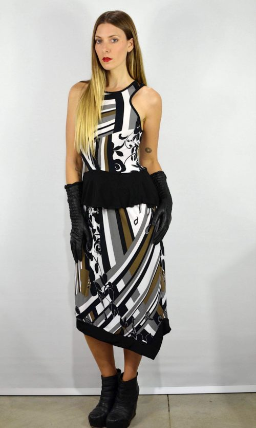 Crystal Dress - Striped Floral