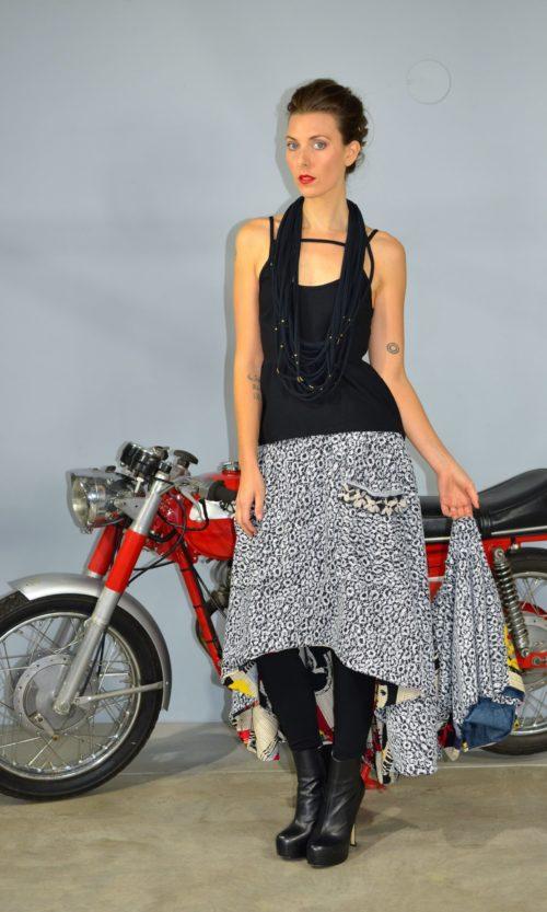 Stella Skirt - Black/White