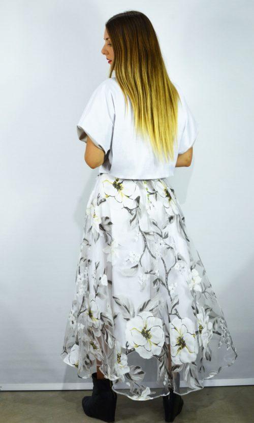 Santo Skirt - White Flower