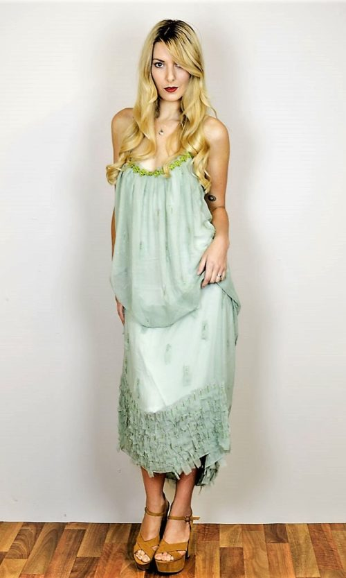 Painted Dress - Greens