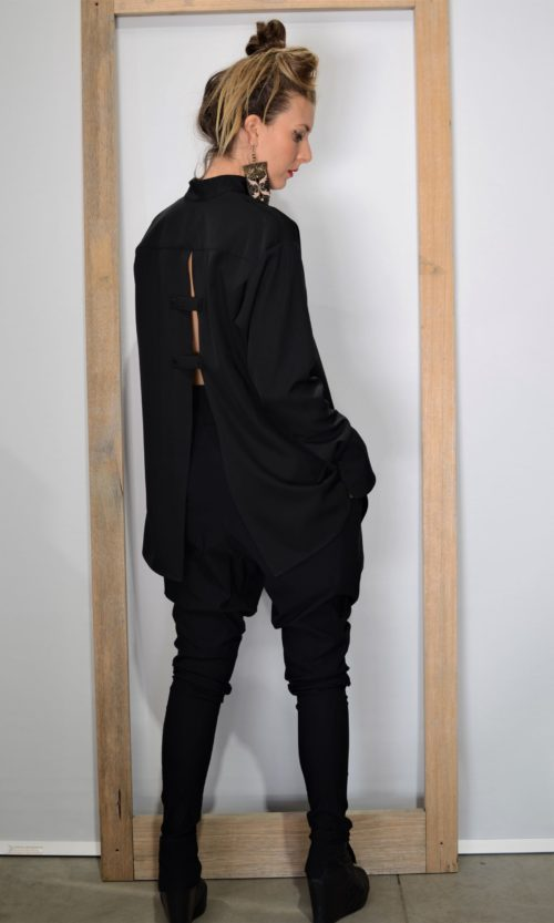 Peony Shirt - Black