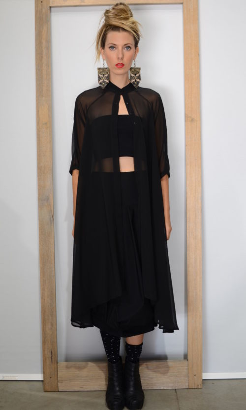 Claudine Jacket - Black (Only available with Full Collar)