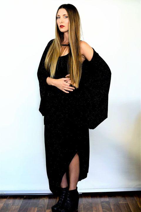 Gail Dress - Black Shimmer