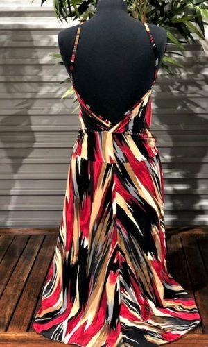 Devo Dress - Plum/Black/Beige