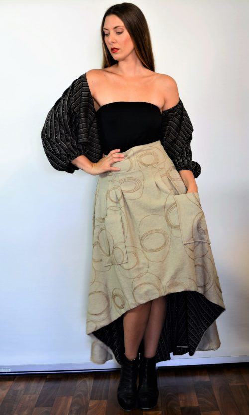 Stella Skirt - Latte/Stripe