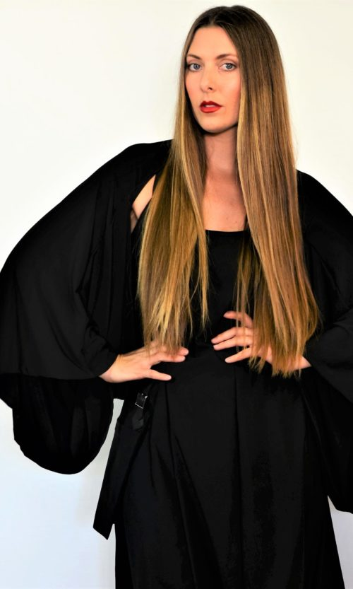 Sleeve Cape - Black