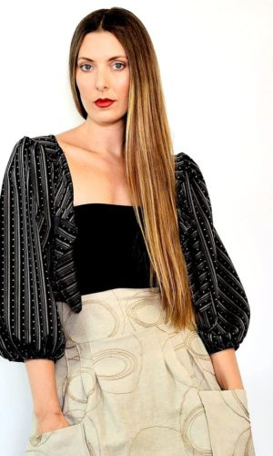 Janice Jacket - Black Stripe