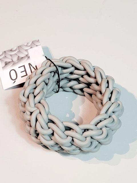 Neo Knit Bracelet-Pearl grey