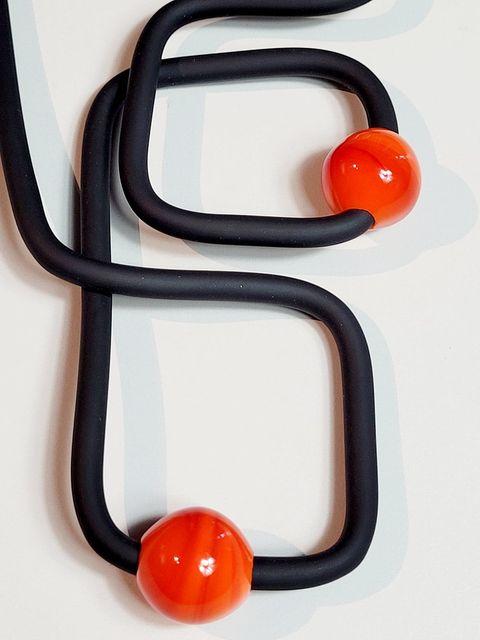 Square Glass Ball-Double-Orange