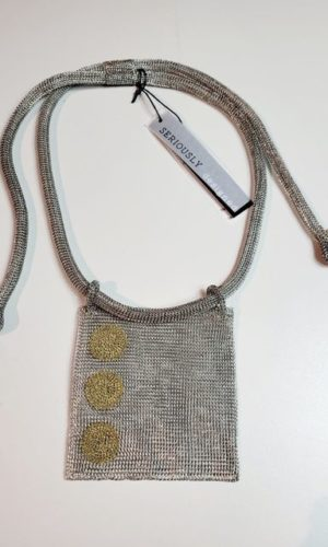 Square Statement Necklace-Stainless/Brass