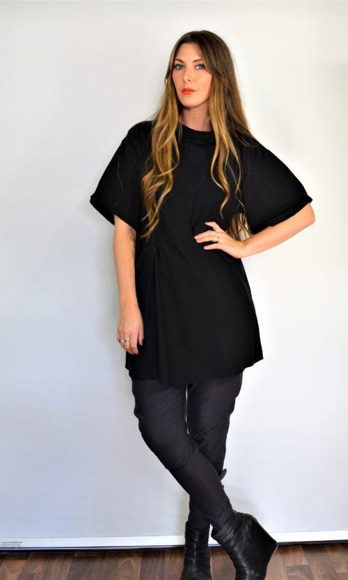 Bridget Dress Collared - Black