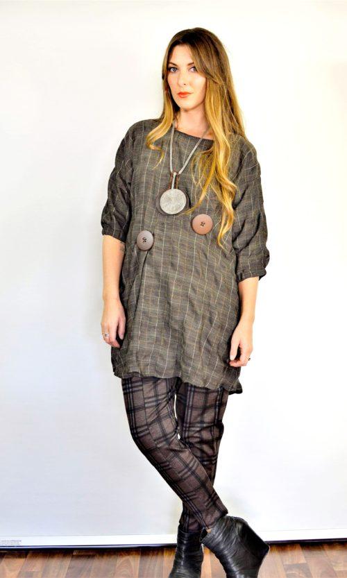 Bridget Dress - Choc Check